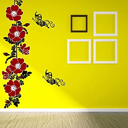 c7cc068dfb6 Image Unavailable. Image not available for. Colour  DeStudio  Flower Vine  with Butterfly  Wall Sticker ...
