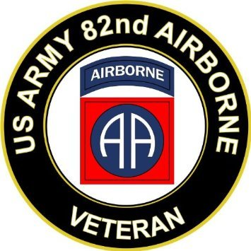 Vinyl USA US Army Veteran 82nd Airborne Sticker Decal 3.8