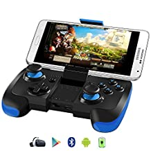 BEBONCOOL Wireless Bluetooth Game Controller with Clip for Android Phone/Tablet/TV Box/Samsung Gear VR/Emulator (Blue)