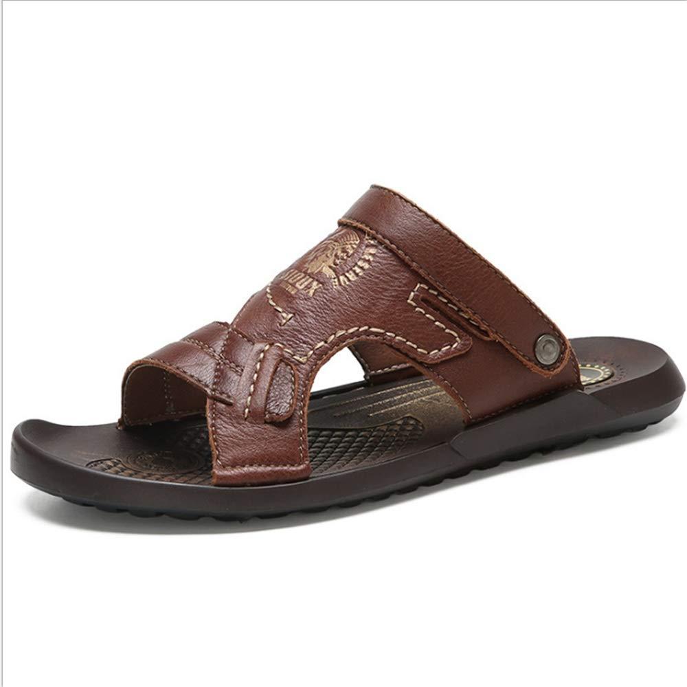 Wagsiyi Dual Hausschuhe Sandalen Leder Rutschfeste Dual Wagsiyi Freizeit Strand Schuhe Atmungsaktive Sandalen und Hausschuhe (24,0-27,0) cm Strandschuhe Rot f006ea