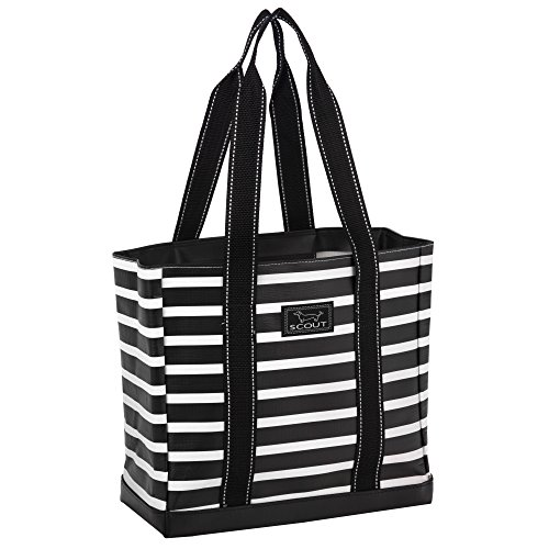 (SCOUT Mini Deano Small Everyday Tote Bag, Folds Flat, Interior Zipper Pocket, Reinforced Bottom, Water Resistant, Fleetwood Black)