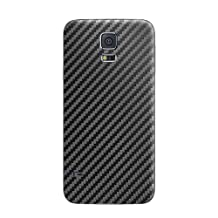 Cruzerlite Carbon Fiber Skin for the Samsung Galaxy S5, Retail Packaging, Black (Back Only)
