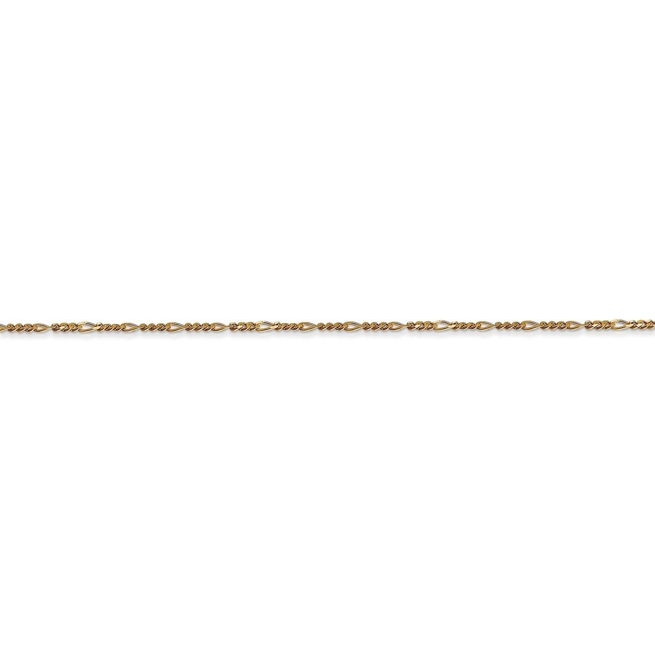 Lex /& Lu 14k Yellow Gold 1.25mm Flat Figaro Chain Necklace