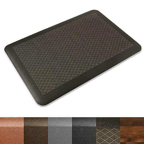 Kitchen Mat | Anti Fatigue Mat, 3/4 Thick | Ergonomically Engineered, Non-Slip, Waterproof | 20''x30'' - Dark Brown by casa pura