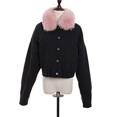 Amazon.com: Outerwear & Coats Denim Chaqueta de plumón de la ...