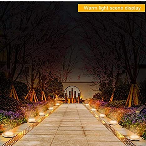 sooseder Outdoor Solar 8-LEDs Underground Lights Lawn Garden Lights Path Lights