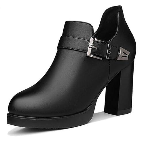 f28f707e Koyi Zapatos De Tacón Alto Para Primavera Nuevos Zapatos De Tacón Grueso  Zapatos De Moda Coreano Plataforma Impermeable: Amazon.es: Zapatos y  complementos