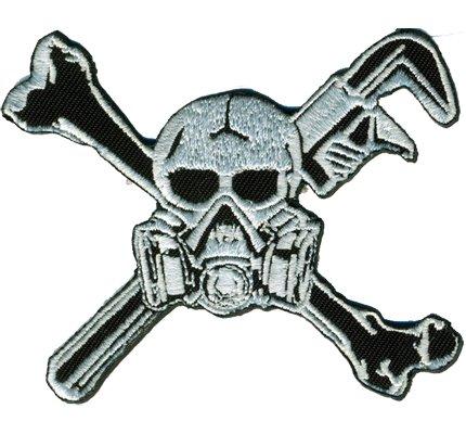 Gas masks painter mechanic Skull Biker Patch maniac screwdriver Iron on Patch Badge
