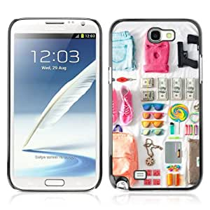 Designer Depo Hard Protection Case for Samsung Galaxy Note 2 N7100 / Cool Spring Break Outfit