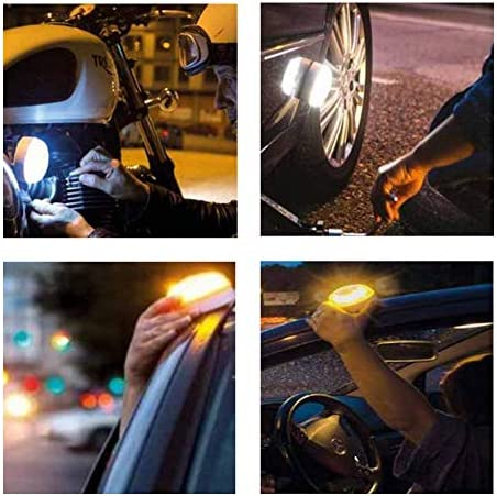 ZYHW Car Emergency Warning Light Flash LED Safety Road Flare Signal Lamp Reflectors with Magnetic Base for Vehicles