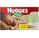 Health & Personal Care : Huggies Natural Care Baby Wipes, Refill, 504 Count