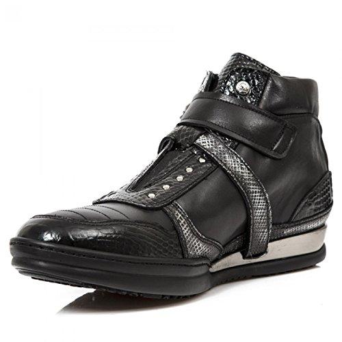 New Rock Laarzen M.hy032-c2 Stedelijke Hardrock Punk Unisex Veiligheid Sportschoenen Zwart