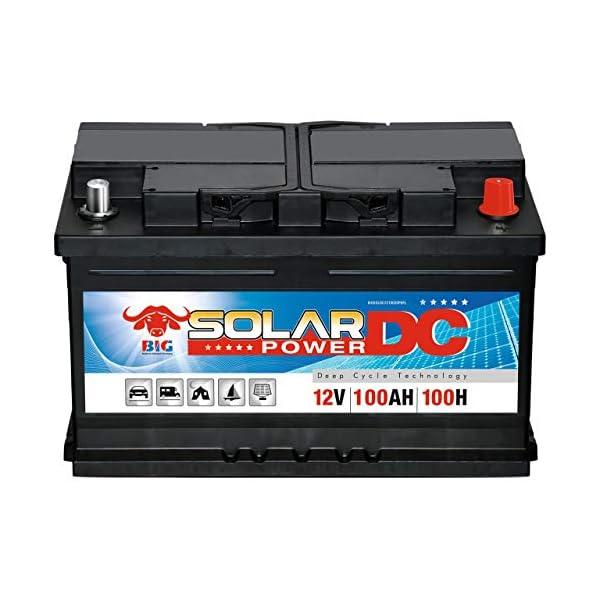 51FysCabTgL Solarbatterie 100Ah BIG 12V Versorgungsbatterie Boot Caravan Wohnmobil Batterie