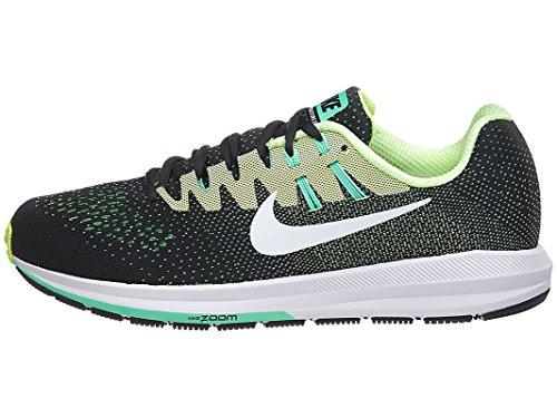 Nike Menns Luft Zoom Struktur 20 Løpesko Tang / Hvit-spøkelse Grønn