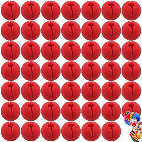 LIUMANG 5cm Red Clown Nose Foam Circus Comic Nose Mask Party Supplies Halloween Accessories Costume Magic Dress Party Supplies,48 PCS]()