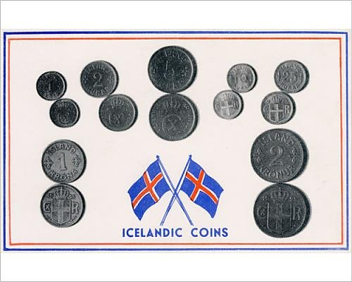 Krona Coin - 10x8 Print of Set of Icelandic coins (14404506)