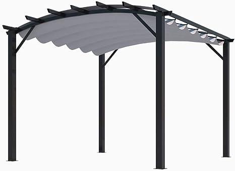 Habrita Pergola - Estructura mixta 11, 22 m2 - Tela color ...