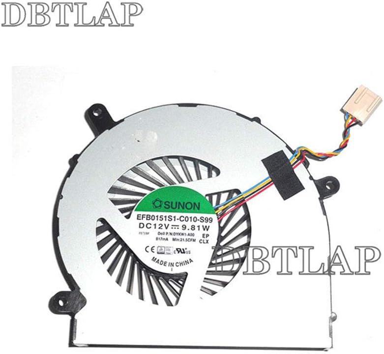 DBTLAP Laptop CPU Fan Compatible for Dell Inspiron 24 5459 All-in-One Desktop CPU Cooling Fan TXA01 DYKW1
