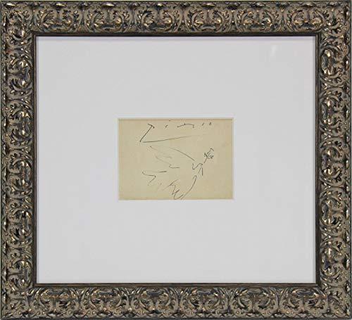 Pablo Picasso Signed Framed 5x6.5 Original Dove of Peace Artwork BAS - Beckett Authentication