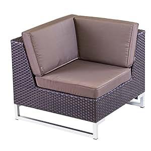 Cozy Bay cb190css-c-cs Manhattan Brazo de ratán sofá Esquina Unidad–Color marrón