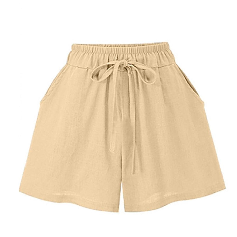 d2266d21c8929c Damen Shorts Rovinci Sommer Lässige Kurze Hose High Waist Hot Pants Lose  Beach Stoff Short Hosenrock