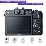 Photo : Canon PowerShot G15 G16 Tempered Glass Screen Protector - MOTONG LCD Screen protector for Canon PowerShot G15 G16,9 H Hardness,0.3mm Thickness,Made From Real Glass