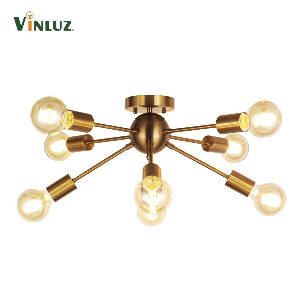 chandelier mid fixtures amazon lighting rustic room brushed modern dinning for dp kitchen lights com brass pendant vinluz ceiling century light sputnik