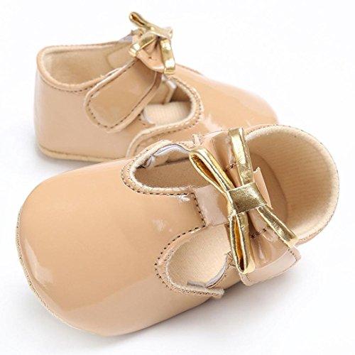 Ouneed® Krabbel schuhe , Herbst Winter Baby Säugling Kinder Mädchen Leder bling Kleinkind Neugeborene Schuhe Khaki