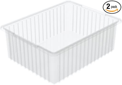 AKRO-MILS Divider Box,22-3//8 x 17-3//8 x 10In,Clear 33220SCLAR Clear