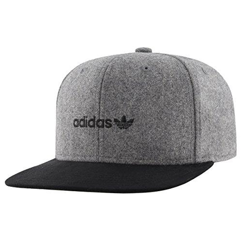 adidas Men's Originals Snapback Flatbrim Cap, Heather Grey/Black Suede, One Size