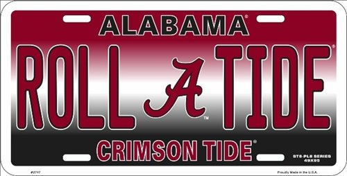 Alabama University Clemson Tide Roll Tide Collegiate Embossed Vanity Metal Novelty License Plate Tag Sign Embossed Car Metal License Plate