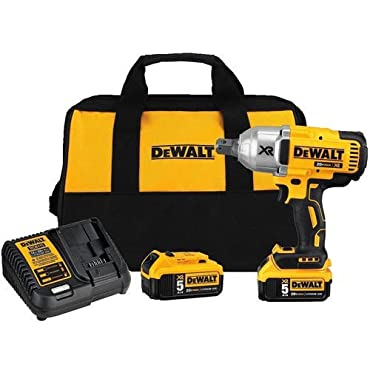 DeWALT DCF897P2 5 Ah 20V MAX XR High Torque 3/4 Impact Wrench with Hog Ring Retention Pin Anvil