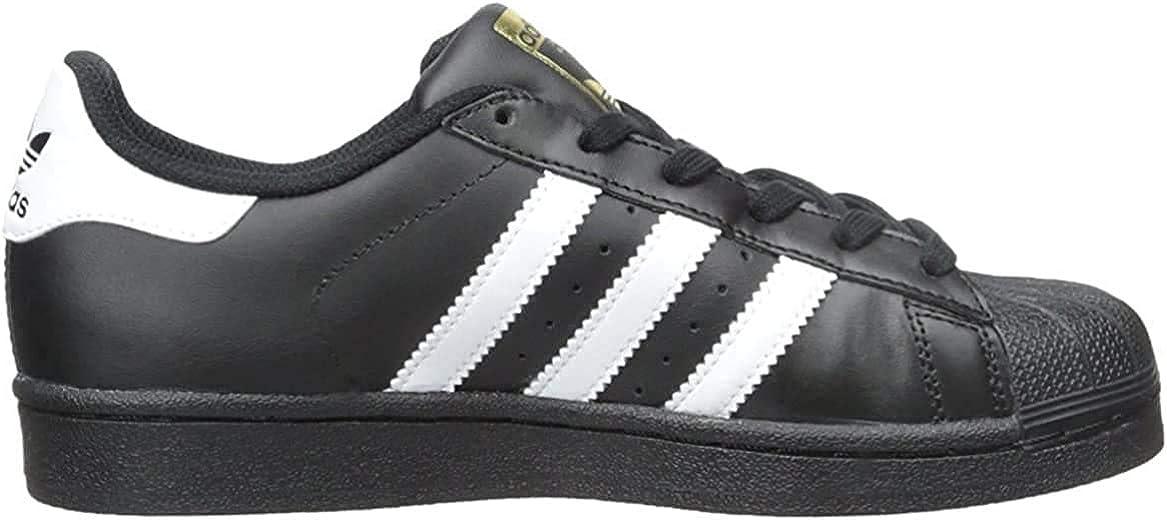 adidas Originals Boys' Superstar Sneaker Core Black Scarlet Gold Metallic