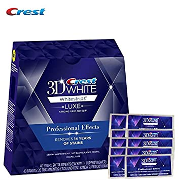 NO BOXES 10 Pouches (20stripes) Crest 3D White LUXE Professional Effect oral hygiene tooth