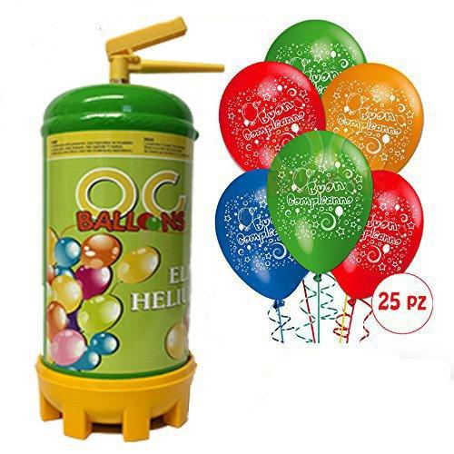 66 opinioni per ocballoons- Bombola Elio per palloncini 1,8 LT + 25 Palloncini Compleanno