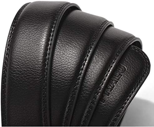 whbage Homme Ceinture Men Belt Without Buckle Male Genuine Leather Strap No Buckle Belts For Automatic Buckle 3.5cm