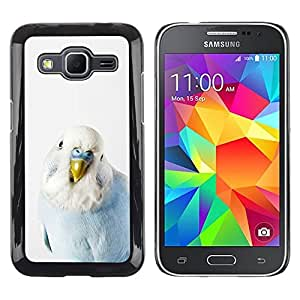 TopCaseStore / la caja del caucho duro de la cubierta de protección de la piel - Bird Parrot Blue Baby White Yellow Peak - Samsung Galaxy Core Prime SM-G360