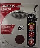 Diablo DCD060REDF04W 20 Pack U-Sand Pad Hook & Lock 6'' Fine 150-180 Grit 6 Hole