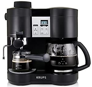 krups xp1600 coffee maker and espresso machine combination black espresso and. Black Bedroom Furniture Sets. Home Design Ideas