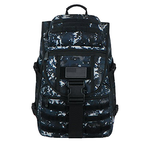 (East West U.S.A RTC504 Tactical Molle Military Assault Rucksacks Backpack, Navy Camo)