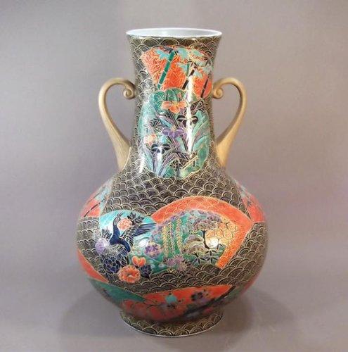 有田焼伊万里焼|花瓶陶器陶芸壺|高級贈答品|ギフト|贈り物|記念品|金彩花鳥絵藤井錦彩 B00HEZN70Y