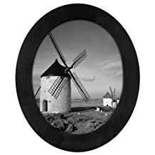 Malden Classic Oval Black Wood Picture Frame 8-Inch x 10-Inch