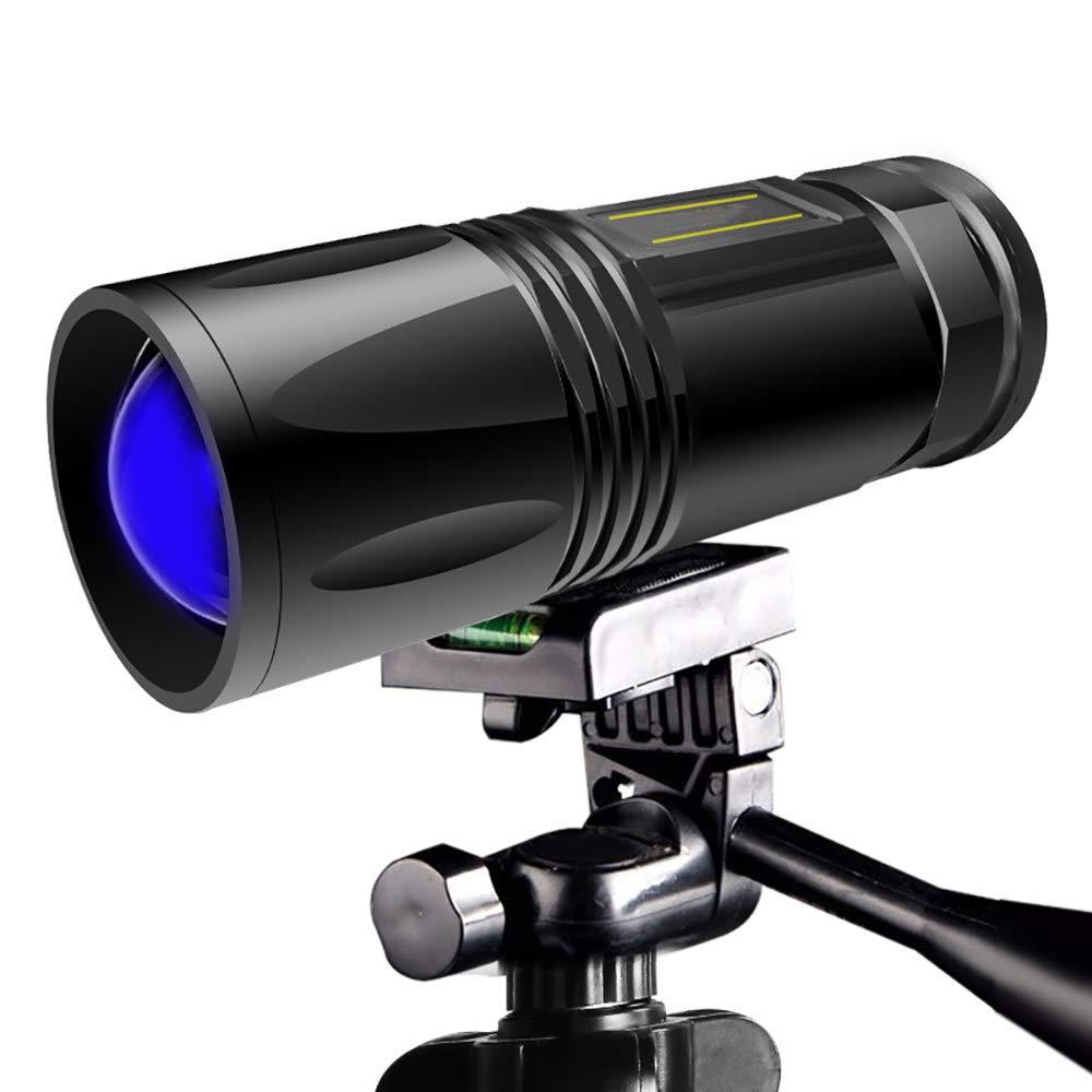 LXT PANDA Night Fishing Light,Blu-ray Fishing Light,USBRechargeable LED Searchlight, Glare Charging Zoom Long-Range Flashlight by LXT PANDA