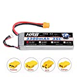 HRB 3S 11.1V 3300mAh 35C Lipo Battery with XT60 Connector for RC Evader BX Car RC Truck RC Truggy RC Airplane UAV Drone FPV (EC3 Deans Traxxas Tamiya)