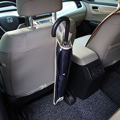 KAMSOL DOUBLE Folding Oxford Cloth Waterproof Car Umbrella Storage Bag Car Seatback Parasol Holder Umbrella Rack with Hanging Strap (Small)