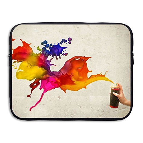 Business Briefcase Sleeve Oil Painting Pattern Laptop Sleeve Case Cover Handbag For 15 Inch Macbook Pro / Macbook Air / Asus / Dell / Lenovo / Hp / Samsung / Sony / Women & Men (14 Inch Laptop Shuttle Case)