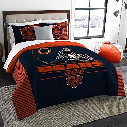 The Northwest Company Officially Licensed NFL Chicago Bears Draft King Comforter & Shams Set, Blue