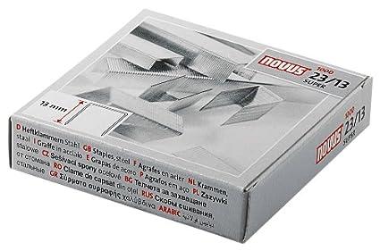 55720 100 hojas Petrus Grapas Largo 13 mm 1000 grapas Modelo 27 23//13
