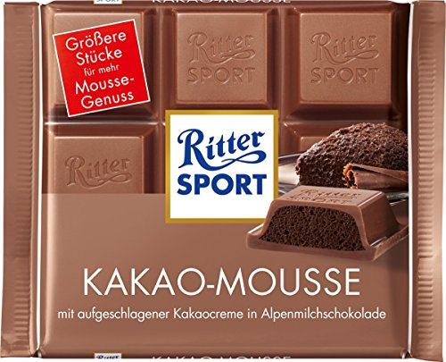 Ritter Sport Kakao (Cocoa) Mousse Chocolate - Pack of 3