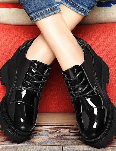 da Black Eu36 Creepers Partyy Uk4 2016 Njx us6 Cn36 Ufficio Black donna Red e Scarpe Party Casual lavoro Evento Heels Platform UqZEZ8n1ax